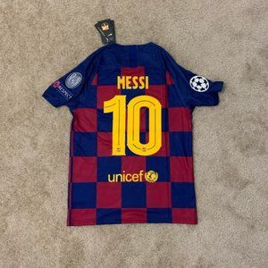 NEW Messi Barcelona Home 2020 Jersey UCL